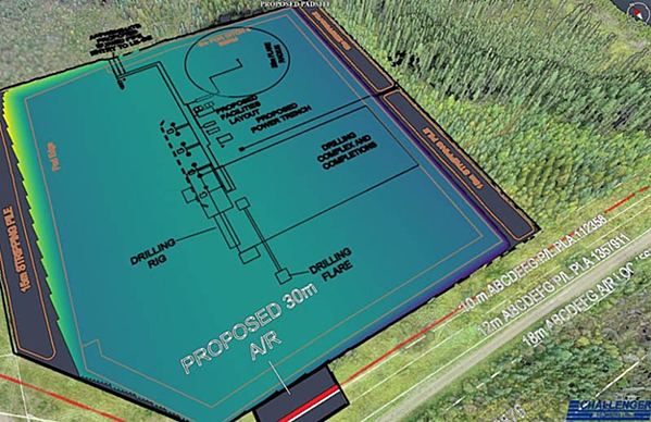 well pad with facilities layout